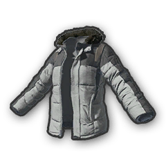 Battlegrounds padded jacket grey