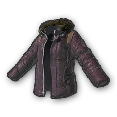 Battlegrounds padded jacket purple