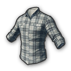 Battlegrounds Checkered shirt white