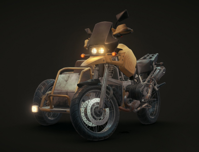 PUBGloot Motorcycle with sidecar